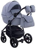Детская коляска универсальная 2 в 1 Adamex Hybryd Plus кожа 100% BR333 (Адамекс, Польша)