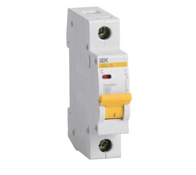 Автоматичний вимикач ВА47-29 1P-З 2A 4,5 кА, ІЕК