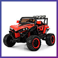 Детский электромобиль джип Багги c пультом Bambi M 3804 EBLR-3 красный | Дитячий електромобіль Бембі червоний