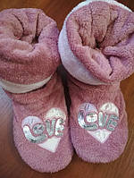 Женские махровые тапочки сапожки Nicoletta