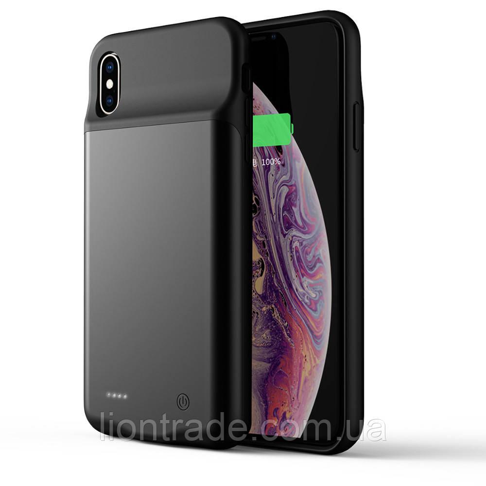 Чехол-аккумулятор AmaCase для iPhone X ЧЁРНЫЙ(3200 MAh)