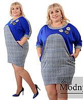 Платье женское со стразами супер батал  в расцветках 38793, фото 1
