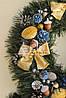 """Новогодний рождественский венок с декором """"Зототые банты"""", фото 2"""