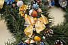 """Новогодний рождественский венок с декором """"Зототые банты"""", фото 3"""