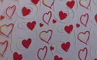 Трансфер для шоколада сердца 1 листик