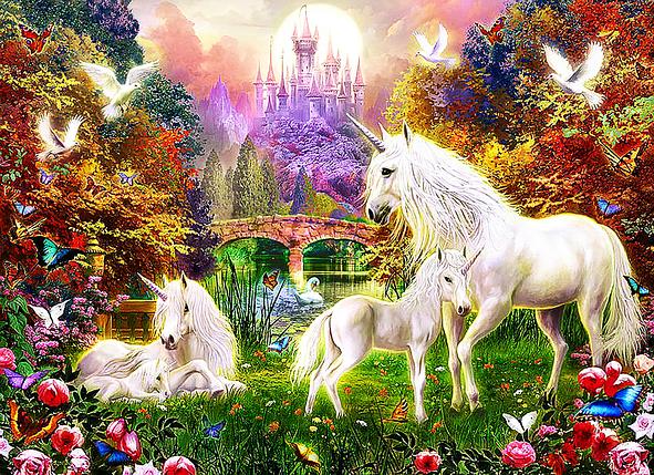 КДИ-0290 Набор алмазной вышивки Волшебная страна Единорогов, фото 2