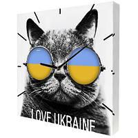 """Настенные часы с украинской символикой """"Кот"""""""