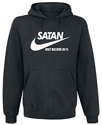 Толстовка без молнии Satan - Just Believe In It