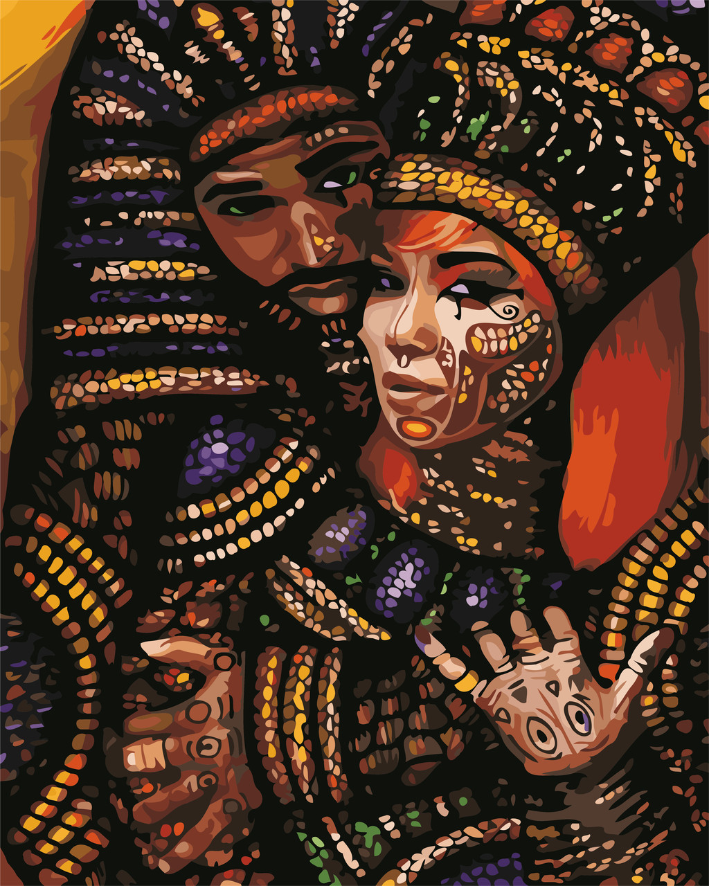 Художественный творческий набор, картина по номерам Африканские мотивы, 40x50 см, «Art Story» (AS0654)
