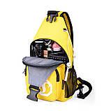Сумка через плече c usb Sankey мини рюкзак городской черный  Код 13-7115, фото 2