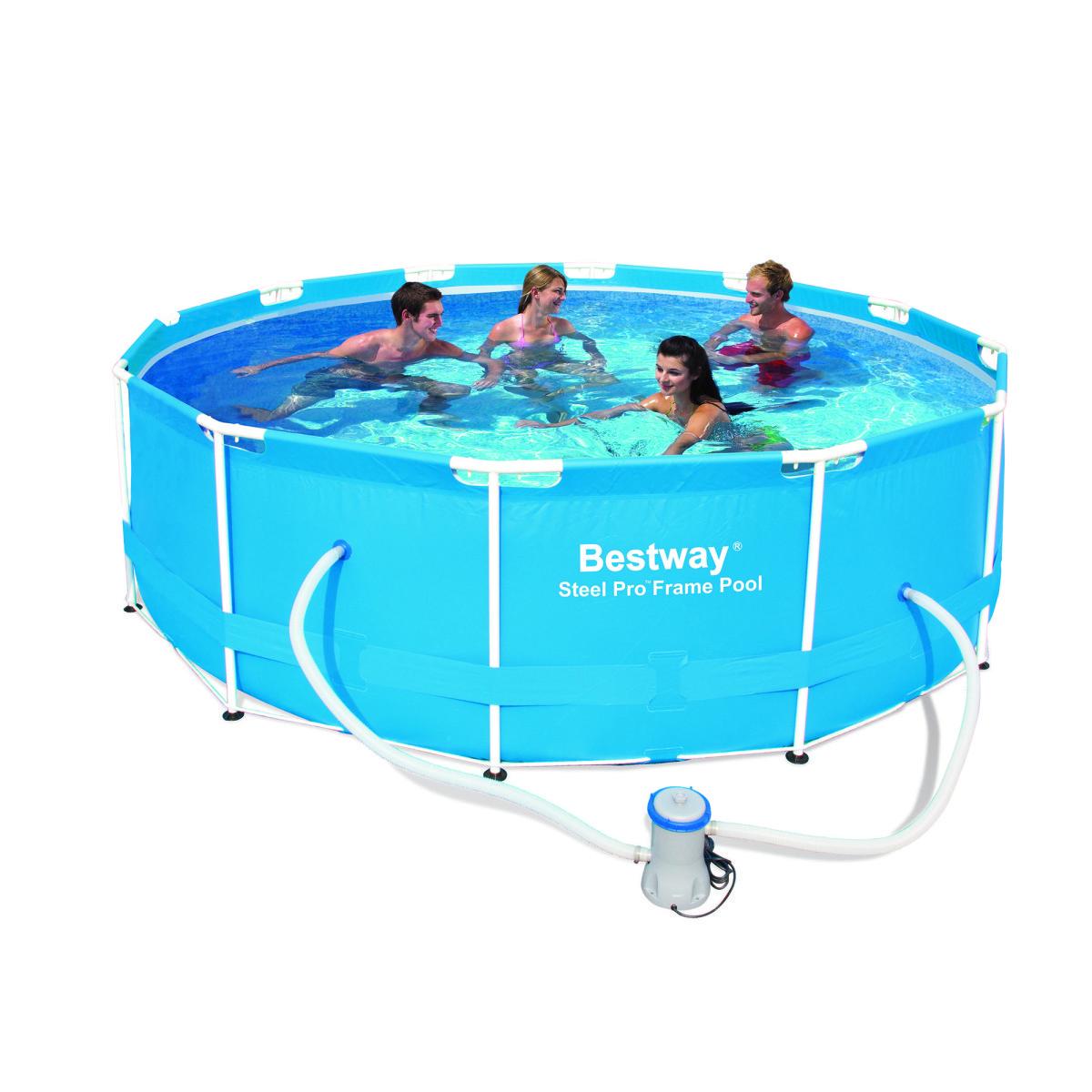 Круглый каркасный бассейн BestWay 56260  (366-100 СМ.) + фильтр насос