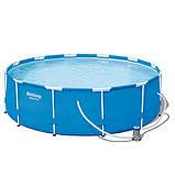 Круглый каркасный бассейн BestWay 56260  (366-100 СМ.) + фильтр насос, фото 2