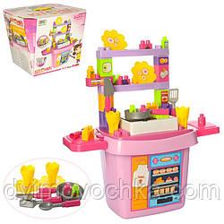 Детский интерактивный конструктор «Кухня для кукол» 8402, 43 предмета