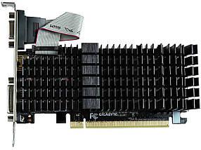 Видеокарта GeForce GT710, Gigabyte, 1 Гб DDR3, 64-bit, Silent (GV-N710SL-1GL), низкопрофильная, відеокарта, фото 2