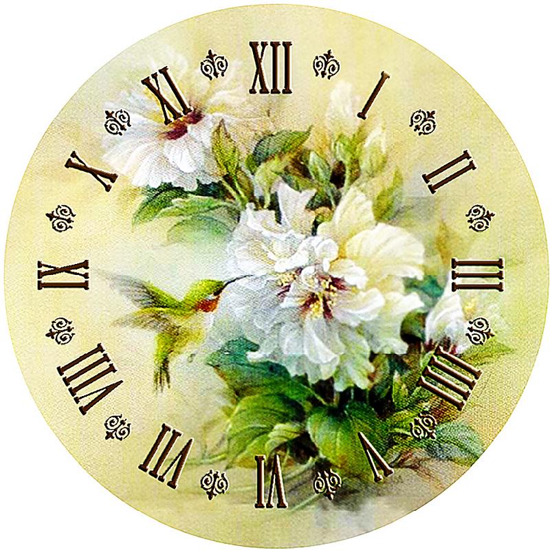 КДИ-0315 Набор алмазной вышивки Часы – Белые пионы