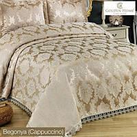 Набор постельного белья с покрывалом Евро размер Begonya