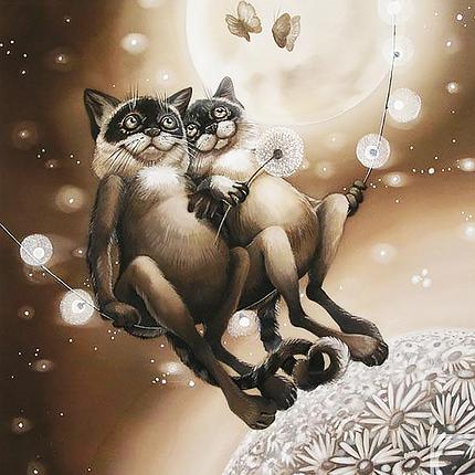 КДИ-0338 Набор алмазной вышивки Лунное притяжение. Художник Sokolova Nadejda, фото 2