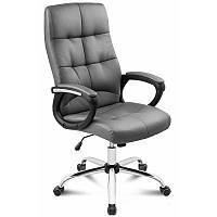 Офисное кресло на колесиках серого цвета Manager grey стул компьютерный оббивка экокожа до 150 кг