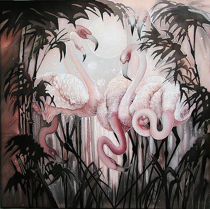 КДИ-0342 Набор алмазной вышивки Фламинго. Художник Sokolova Nadejda, фото 2