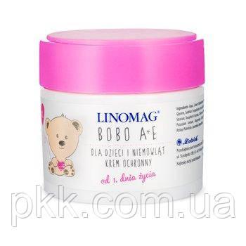 Крем защитный для ухода за кожей детей и младенцев LINOMAG® Bobo A+E для сухой, чувствительной и аллергичной кожи с рождения 50 мл