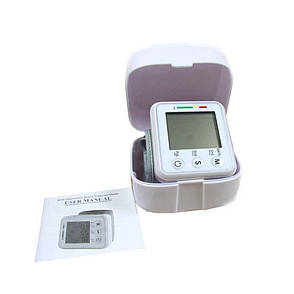 Автоматический тонометр на запястье Electronic blood pressure monitor модели YX - 101 + ПОДАРОК: Настенный, фото 2