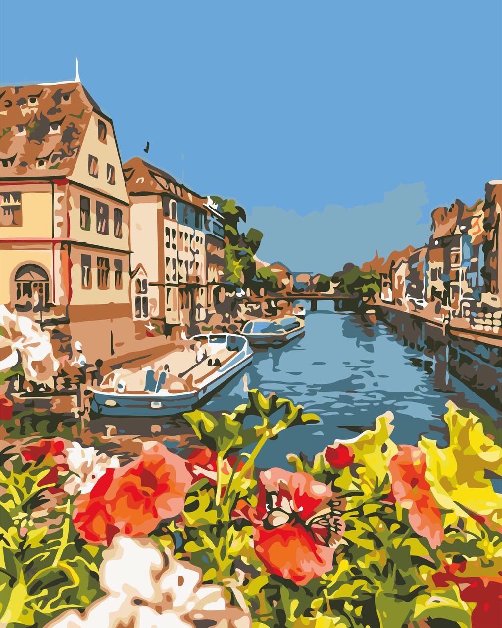 Художественный творческий набор, картина по номерам Французский городок, 40x50 см, «Art Story» (AS0635)