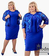 Костюм женский двойка супер батал (платье+накидка) в расцветках  38800, фото 1