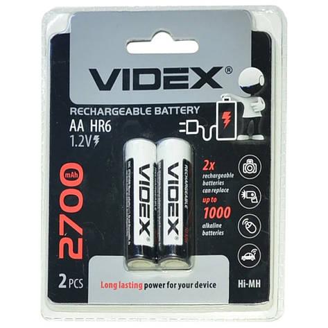 Аккумуляторы Videx HR6/AA 2700mAh(Блистер 2 батарейки) *3011012946 [1990], фото 2