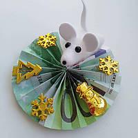 Магніт мишка. Грошовий оберіг.