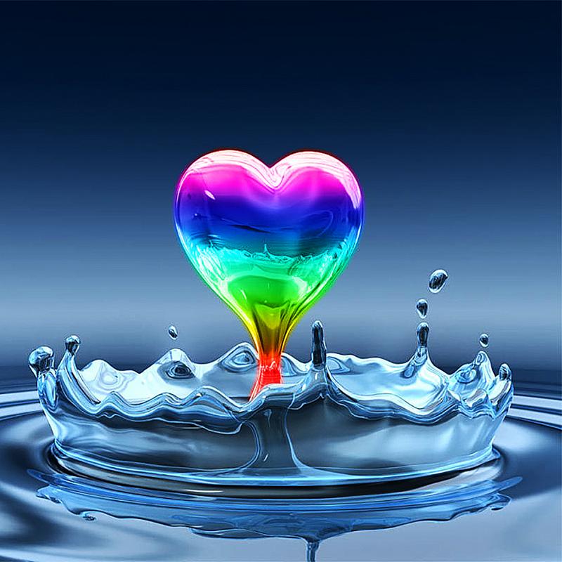 КДИ-0384 Набор алмазной вышивки Радуга любви