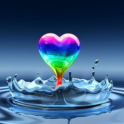 КДИ-0384 Набор алмазной вышивки Радуга любви, фото 2