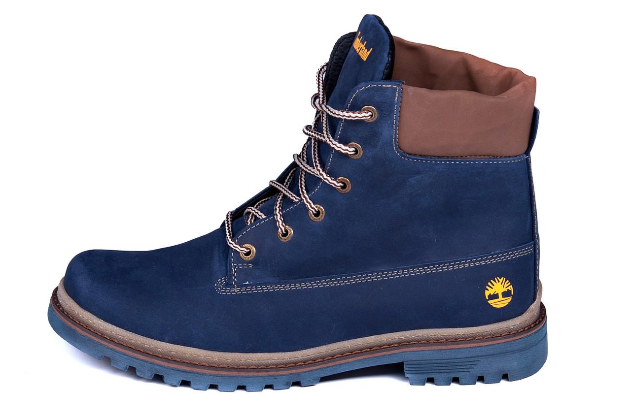 Мужские зимние кожаные ботинки Timberland Crazy Shoes Laguna (реплика), фото 1