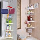 [ОПТ] Угловая полка в ванную Multi Corner Shelf, телескопическая, фото 4