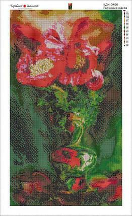 КДИ-0400 Набор алмазной вышивки Гармония маков. Художник Carol Cavalaris, фото 2
