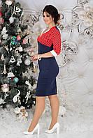 Сукня жіноча верх горох в кольорах 38806, фото 1