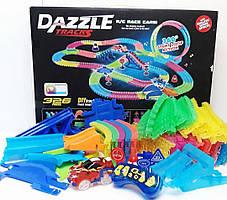 Детский трек для машинок DAZZLE TRACKS 360 деталей с пультом управления
