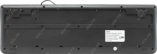 Клавиатура Defender OfficeMate HM-710 Black, USB, фото 2