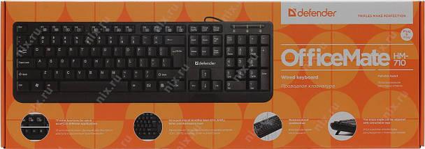 Клавиатура Defender OfficeMate HM-710 Black, USB, фото 3