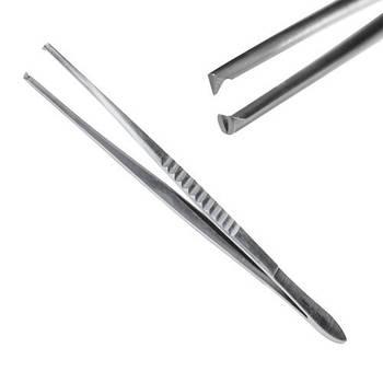 Пинцет хирургический 1: 2 зубый, 18 см, J-16-068