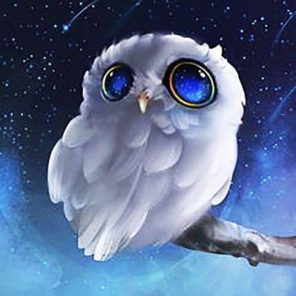 КДИ-0516 Набор алмазной вышивки Совенок – Глаза цвета неба, фото 2