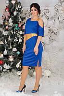 Платье нарядное с открытым плечом  в расцветках 38811, фото 1