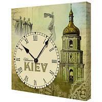 """Настенные квадратные часы """"Це моя країна. Київ"""""""