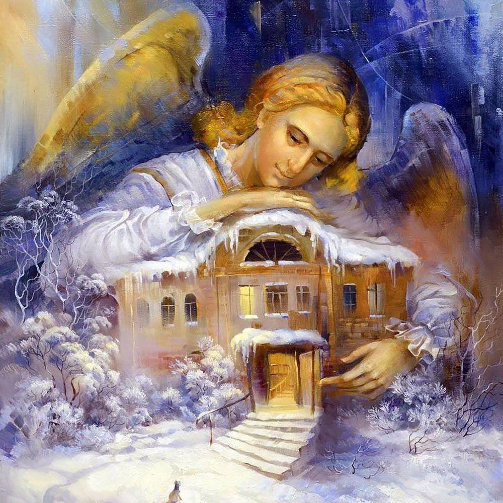 КДИ-0554 Набор алмазной вышивки Ангел Хранитель-2