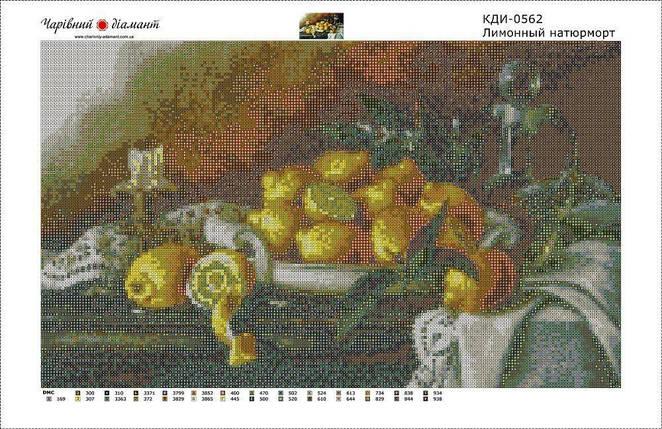 КДИ-0562 Набор алмазной вышивки Лимонный натюрморт, фото 2