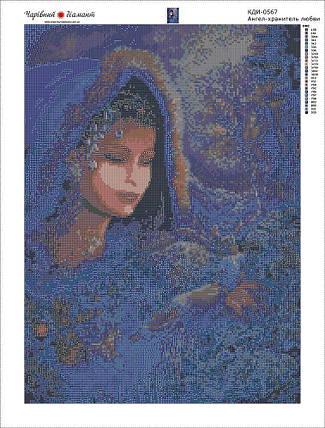 КДИ-0566 Набор алмазной вышивки Ангел Хранитель любви, фото 2