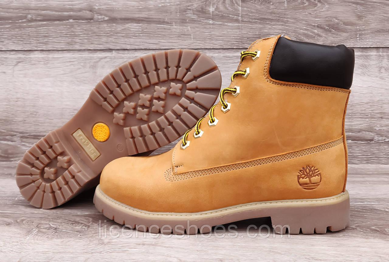 Жіночі руді зимові черевики в стилі Timberland Ginger (Репліка ААА)
