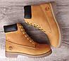 Женские рыжие зимние ботинки в стиле Timberland Ginger (Реплика ААА), фото 4
