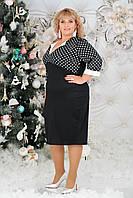 Платье женское верх горох супер батал  в расцветках 38815, фото 1