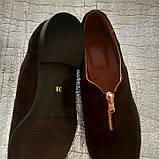 Женские туфли из натуральной замши шоколадного цвета, фото 4