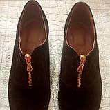 Женские туфли из натуральной замши шоколадного цвета, фото 3